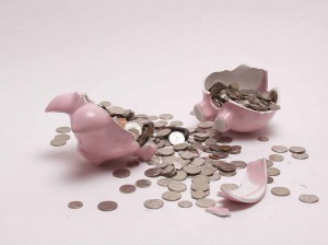 Piggy Bank Broke Bank Money Lose Saving 300x224