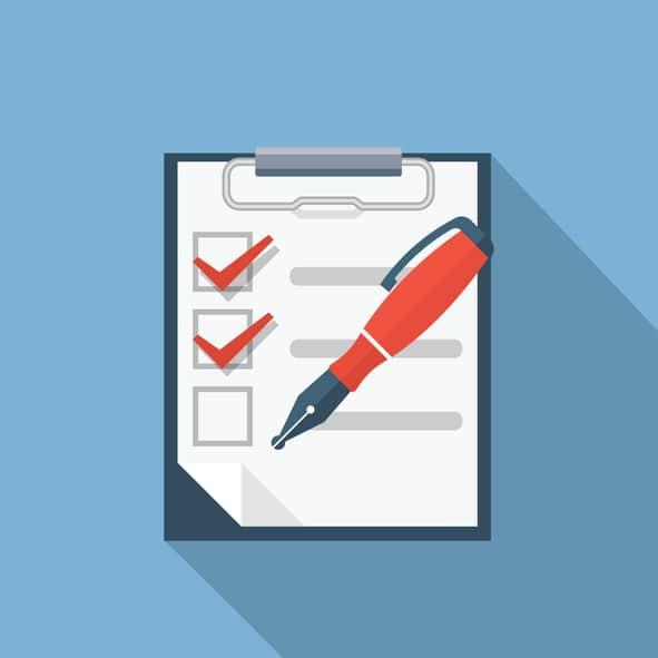 Checklist Flat Illustration