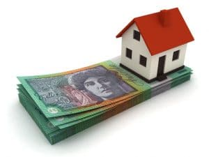 Australian Currency House Real Estate Price Mortgage Concept