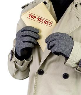 Spy With Top Secret Documents