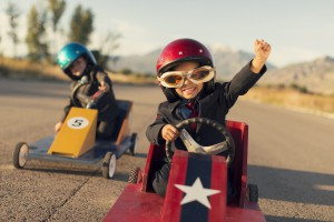 Young Business Boys Race Toy Cars 300x200