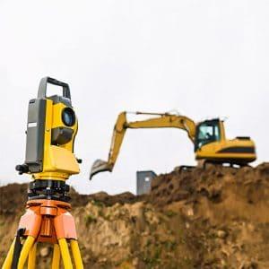 land surveying yellow